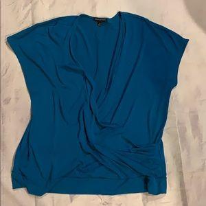 Banana republic NEW xl teal wrap shirt top